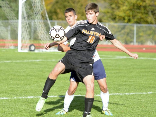 Led by its seniors, such as forward Robby Hanosek, Palmyra is working towards a top spot in the Mid-Penn picture this season.