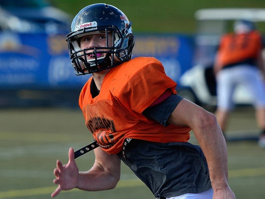 York Suburban wideout Collin Mailman is the leading receiver in the York-Adams League with 47 receptions for 983 yards. He's averaging 20.9 yards per catch.