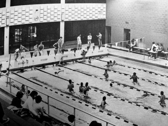 From 1950 through 1969, William Penn swimmers had won at least one gold medal at the PIAA championships each year. William Penn opened the swimming pool and diving tank at its high school in 1972. The still state-of-the-art six-lane pool hosted the District 3 swimming and diving championships in 1979. What would have been unthinkable a decade before happened, and the Bearcats did not win a single gold medal. The pool was emptied after the 2011-12 season, and William Penn's swimming teams folded. This picture originally appeared in the William Penn yearbook, The Tattler.