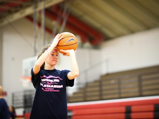 Free throw shooting is one of Maggie Connolly's many strengths, as the Ursuline senior made more than 84 percent of her foul shots.