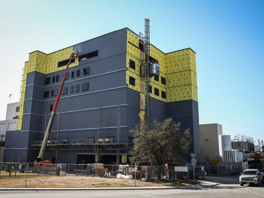 Construction continues on the 7-story tower expansion