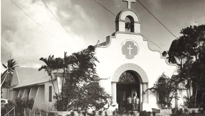 An April 1972 Pacific Daily News file photo of Santa Teresita Church in Mangilao. Leo Tudela told Guam lawmakers this week that a former Guam priest, Louis Brouillard, molested him at the church's rectory one night in the 1950s.