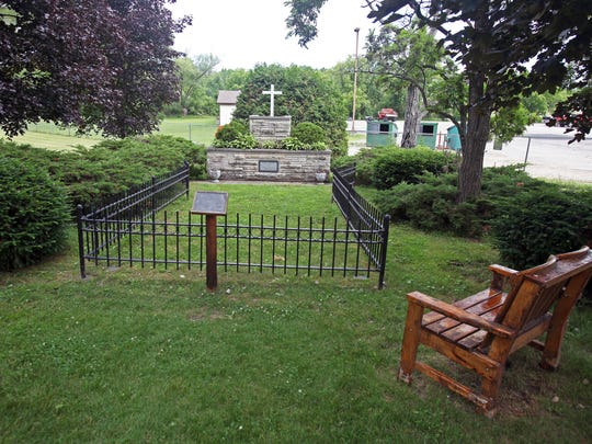 A mass grave in the cemetery outside the Peshtigo Fire Museum contains the bodies of 350 people killed in the 1871 Peshtigo Fire, the deadliest in American history.