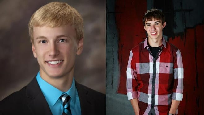 Cody Zahm and Riley Ristow of Oconto High School.