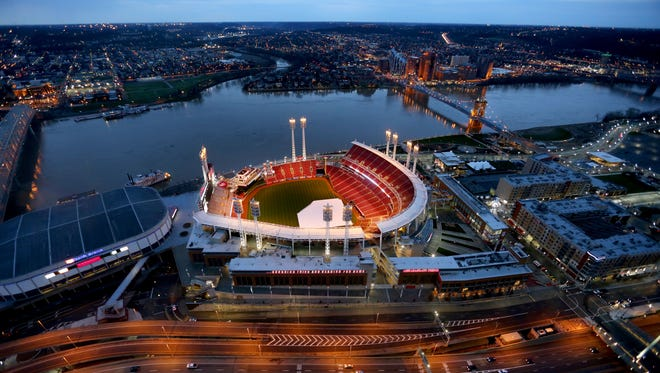 Great American Ball Park the morning before Opening Day 2015.