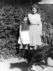 Mildred Levy poses with her niece, Wendy Coblentz, and Mildred's dog, Boots.