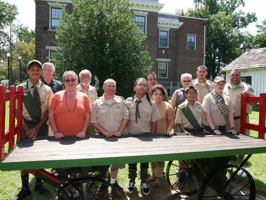 Members of Boy Scout Troop No. 108 and their family