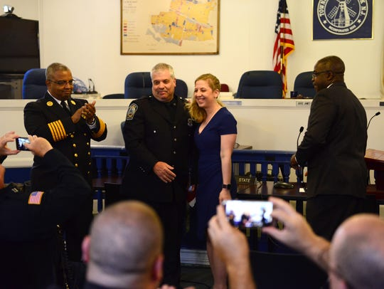 Ashley Hahn, of Teaneck, took the Oath of Office as
