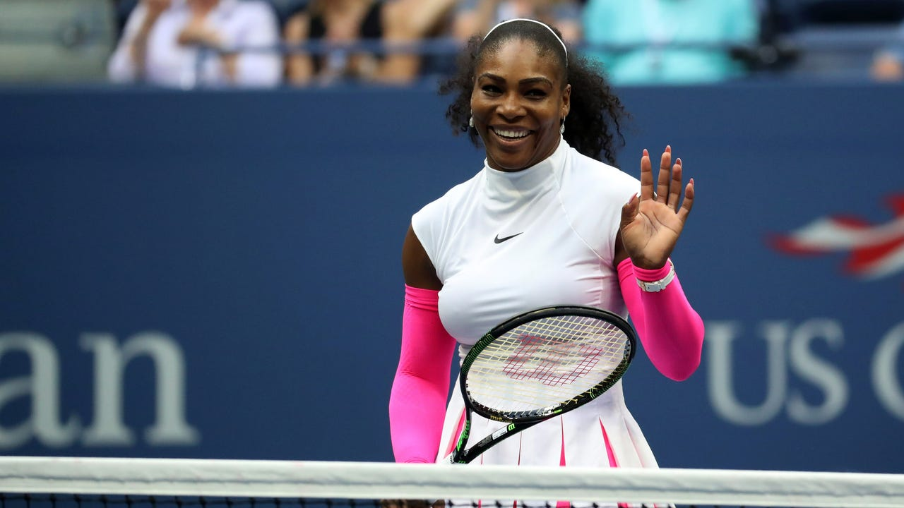 Serena Williams won her 308th career Grand Slam match on Monday, passing Martina Navratilova for the most all time.