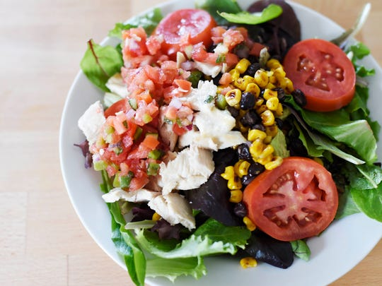 This southwest salad is packed with vegetables and protein for big flavor that keeps you full.