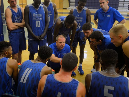 UWF basketball coach Jeff Burkhamer and his team remain inside the bubble for a berth into the NCAA Division II Tournament.