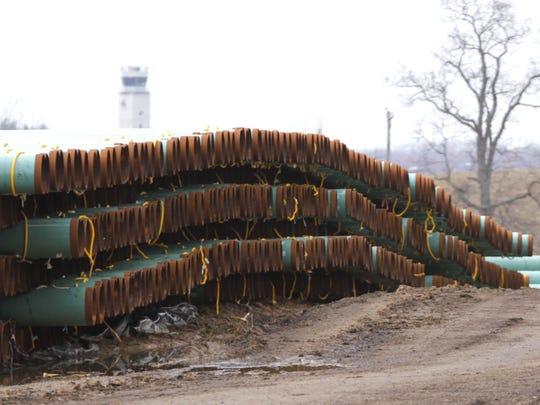 One of the storage yards for the Utopia pipeline is north of the Mansfield Raceway in  Weller Township. The yard contains 90 miles of pipe delivered by rail from Alabama, and the laying of the line is expected to commence in May.