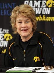 Iowa head women's basketball coach Lisa Bluder thinks