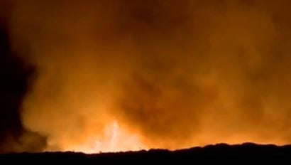 A massive mulch fire near El Mirage is expected to burn for days and blanket the West Valley in smoke.