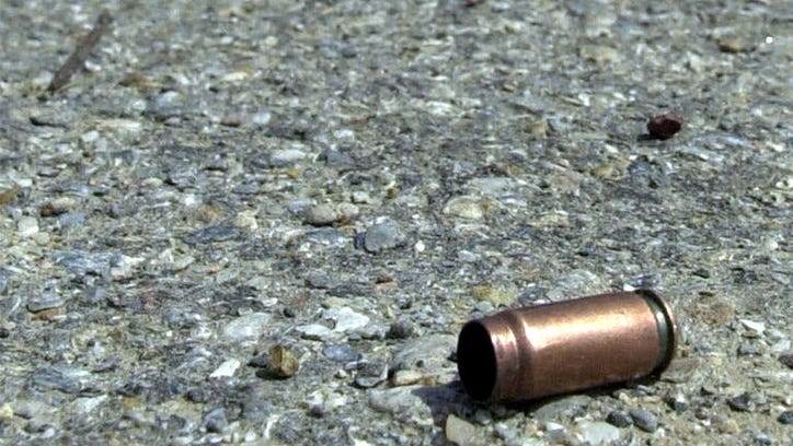 Bullet casing on ground