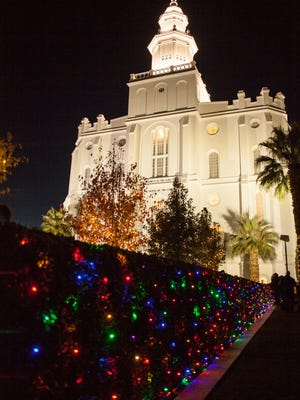 The 2017 lighting ceremony at the St. George LDS Temple will begin at 5:30 p.m. Friday.