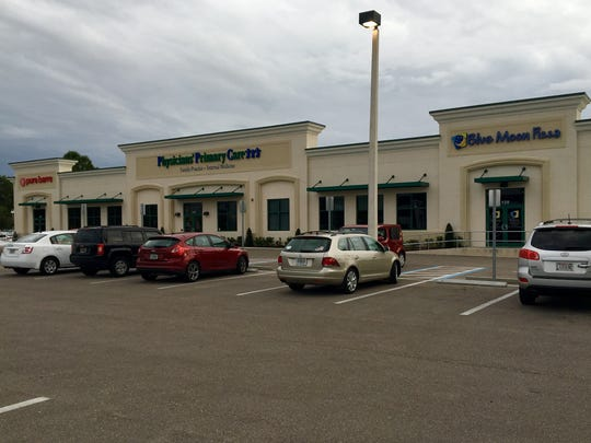 The former Jalapeno's building on College Parkway in south Fort Myers has been divvied into a mixed-use commercial space that's home to, from right: Blue Moon Pizza, Physicians Primary Care and Pure Barre Fort Myers.