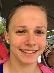 Mansfield Aquatic's swimmer Callie Limpert