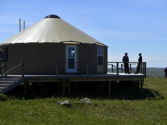 American Prairie Reserve's Kestrel Camp is a treat for visitors who stay in plush yurts while being introduced to the prairie.