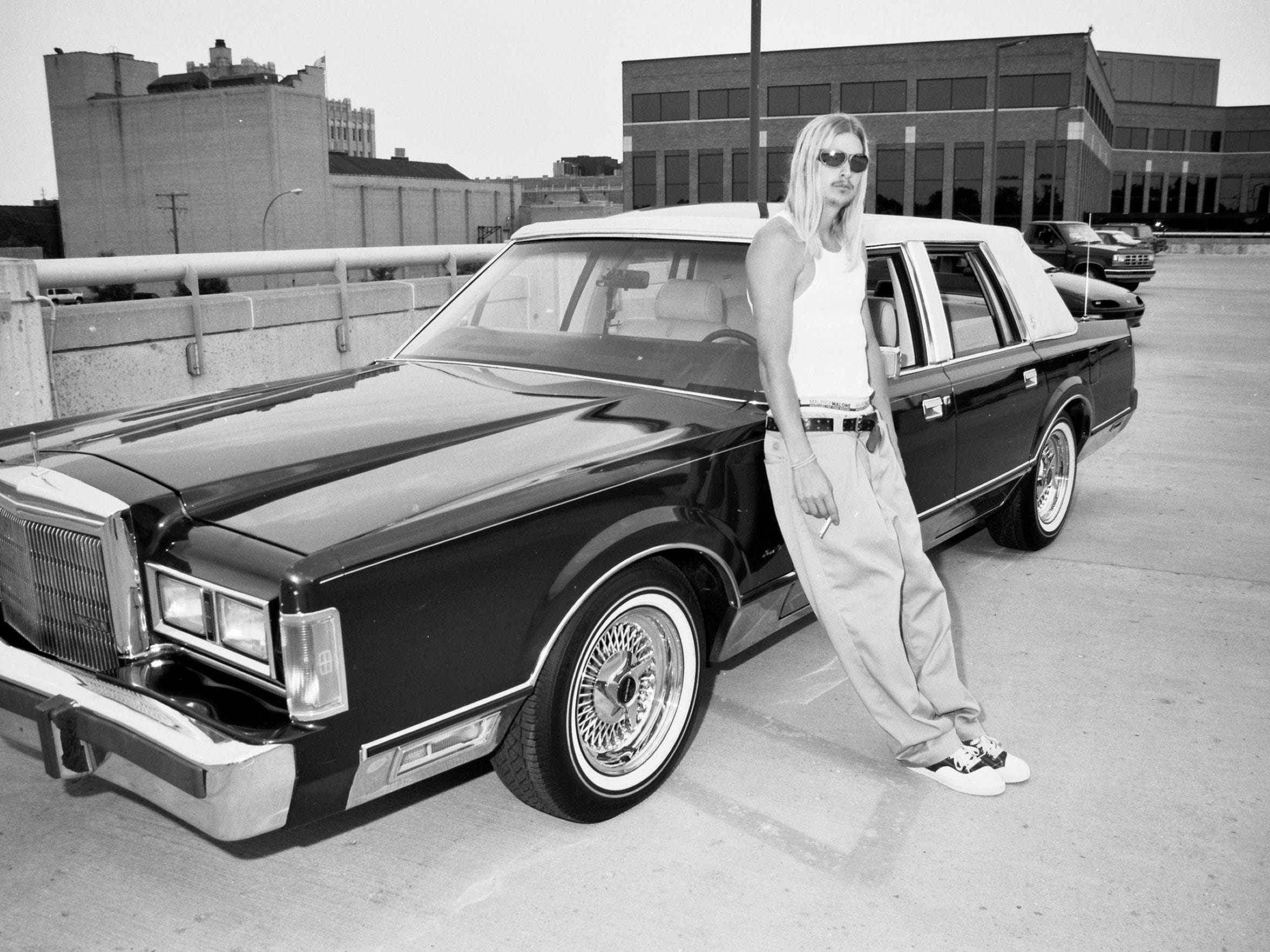 Kid Rock in Royal Oak in 1996, atop the then-new parking