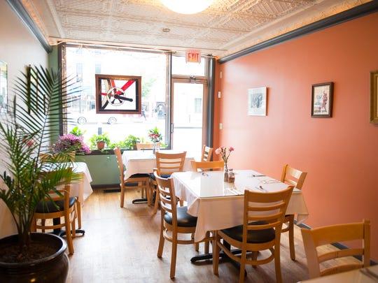 The dining room at Questa Lasagna Restaurant, 55 Main