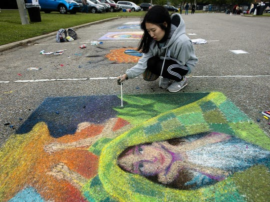 FLIMP Chalk Art