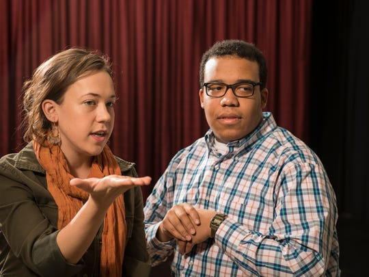 Theory of Minda: Kelsey Torstveit as Hilo and Christopher Michael Richardson as Bill.