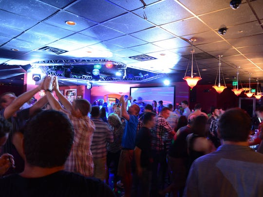 Patrons enjoy dancing and drinks at the revitalized Cabaret West Glen on Saturday 9/7/13.
