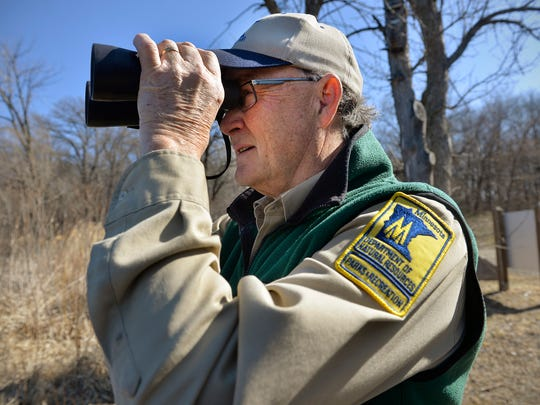 Lake Maria State Park Manager Mark Crawford watches