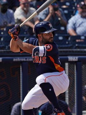 Jose Altuve helped lead the Astros to the World Series last season.