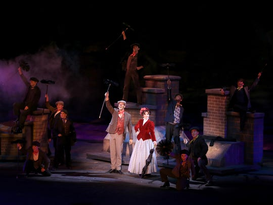 "Selections from Disney's ""Mary Poppins"" are part of Tuacahn Amphitheatre's current production of ""When You Wish,"" shown here."