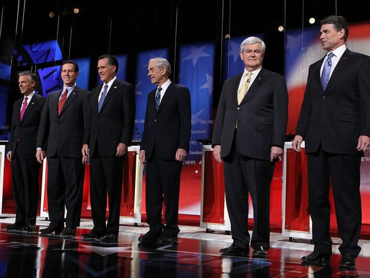 2012 Republican presidential contenders in the final