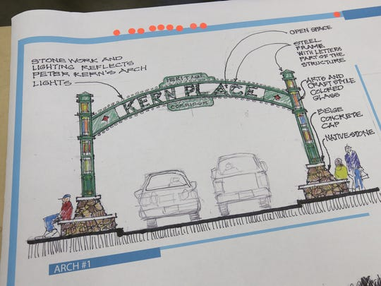 One of the options for the arch entering the Kern Place neighborhood.