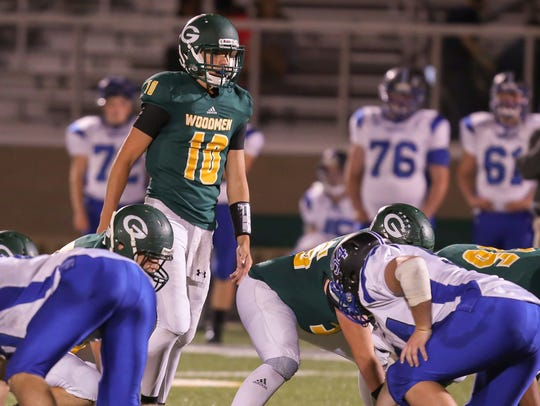 Greenwood QB Seth Gallman (10) had 1,276 passing yards
