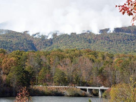 Fire at Pinnacle Mountain