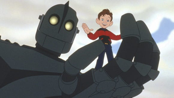 The Iron Giant (voiced by Vin Diesel) and Hogarth Hughes