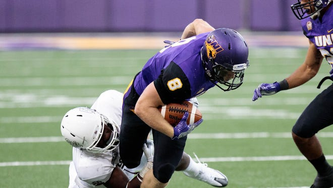 UNI's Marcus Weymiller has emerged as a versatile weapon in the Panthers backfield after rumbling for 170 yards and two TDs on 42 carries last week at South Dakota State.