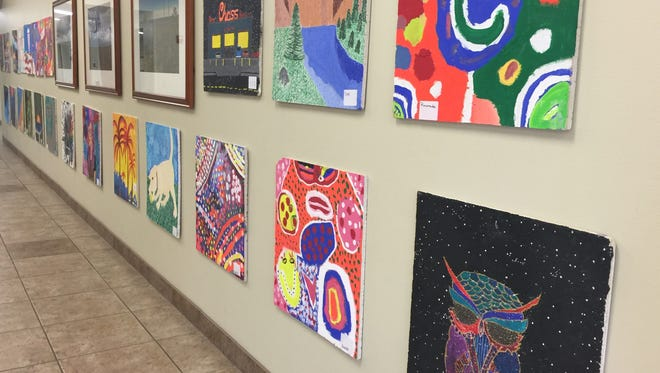 Students spent six weeks working on their paintings.