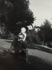 Felix Vail with his son, Bill, in August 1965