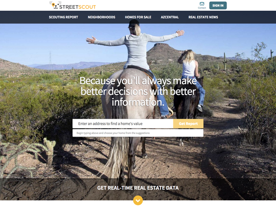 Street Scout, powered by The Information Market and azcentral.com, is here to help you find a place to live and thrive, whether you are buying or renting.