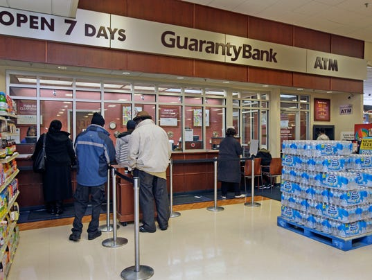this 2013 file photo shows a guaranty bank inside lena 39 s food market