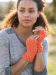 These easy mitts have a gusset for the thumb, which I think is a must.