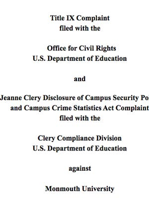 A copy of the complaint filed against the university.