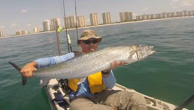 Kayak fisherman Jack Motley caught this 30-pound king mackerel recently near Portofino towers on Pensacola Beach. Facebook: www.facebook.com/YakMotley/ Youtube: www.youtube.com/c/YakMotley Instagram: @yakmotley Website: www.yakmotley.com