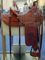 The Nevada Sesquicentennial saddle, crafted by JM Capriola