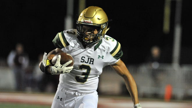 St. Joseph running back Jordan Scott has rushed for 487 yards and five touchdowns, helping the Green Knights reach the Non-Public Group 3 title game.