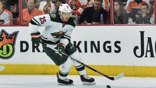 Minnesota Wild defenseman Jonas Brodin is expected to be out at least a month with a broken finger.