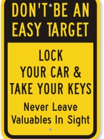 Lock your cars, police say.