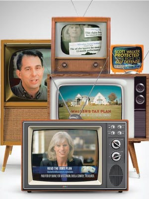 Wisconsinites have been inundated by more than $14 million of political ads broadcast so far this year by candidates and outside groups seeking to sway voters in next month's elections.