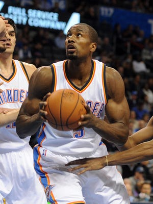 Serge Ibaka had 20 points, eight rebounds and four blocks for the Thunder.